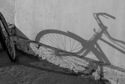 Photograph - Long Shadow Of Bicycle by Prakash Ghai
