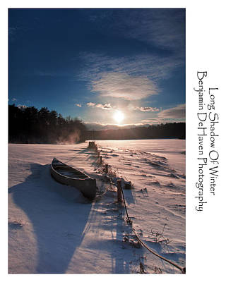 Sunset Photograph - Long Shadow Of Winter by Benjamin DeHaven