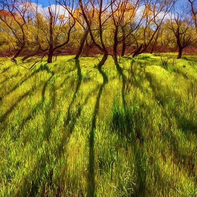Photograph - Long Shadows Painting by Debra and Dave Vanderlaan