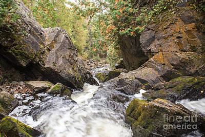 Fall Photograph - Long Slide Falls - Waterfall Wisconsin by Nikki Vig