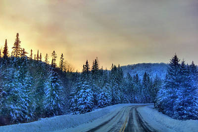 Photograph - Long Snowy Road - Vermont Winter by Joann Vitali