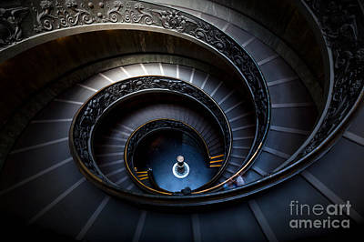 Photograph - Long Spiral, Winding Stairs by Michal Bednarek
