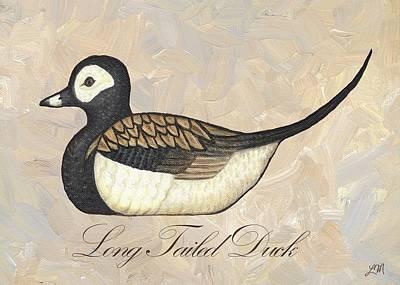 Duck Digital Art - Long Tailed Duck by Linda Mears