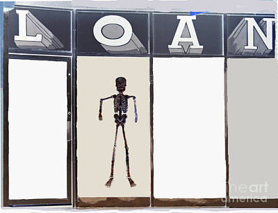 Human Skeleton Photograph - Long Term Loans by Joe Jake Pratt