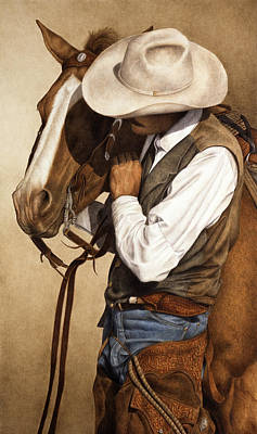 Cowboy Painting - Long Time Partners by Pat Erickson