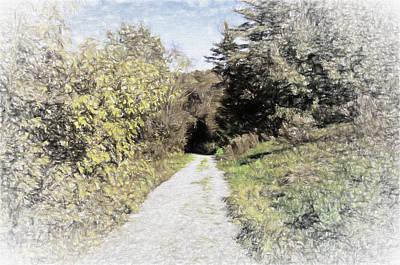 Long Trail Art Print by Rena Trepanier