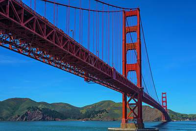 Photograph - Long View Golden Gate Bridge by Garry Gay