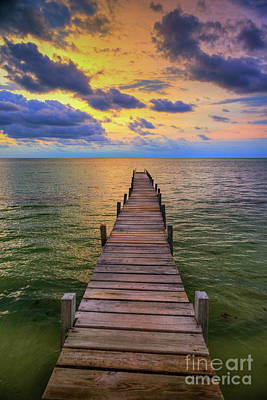 Photograph - Short Walk On A Long Pier by David Zanzinger