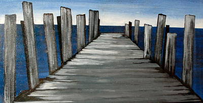 Eastern Point Painting - Long Walk Original Sold by Jeffrey Engle