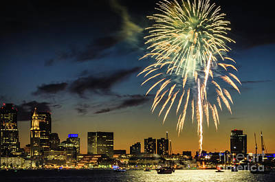 Photograph - Long Warf Fireworks 1 by Mike Ste Marie
