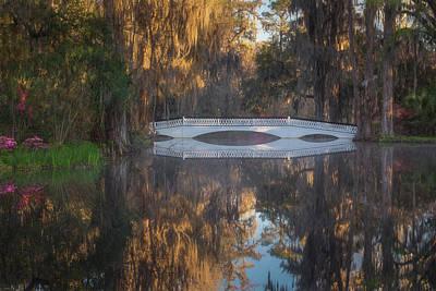 Photograph - Long White Bridge Pond Reflection by Kim Carpentier