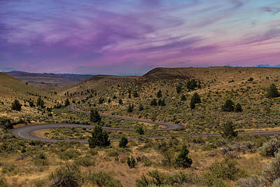 Central Photograph - Long Winding Road In Central Oregon by David Gn