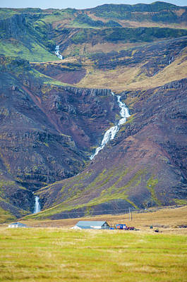 Photograph - Long Winding Waterfall Western Iceland by Deborah Smolinske
