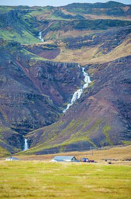 Photograph - Long Winding Waterfall Western Iceland by Deborah Smolinske