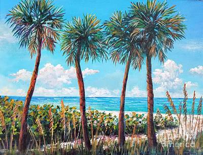 Painting - Longboat Key Palms by Lou Ann Bagnall