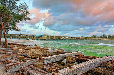 Photograph - Longboat Pass Bridge by HH Photography of Florida