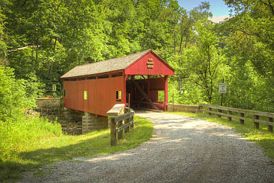 Photograph - Longdon Or Miller Covered Bridge by Jack R Perry