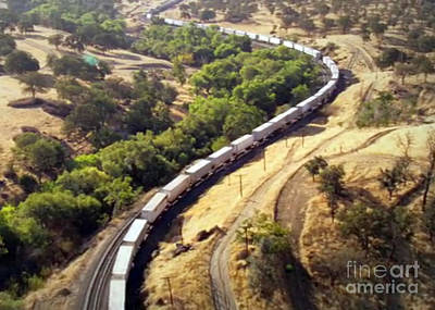 Photograph - Longest American Freight Trains by Navin Joshi