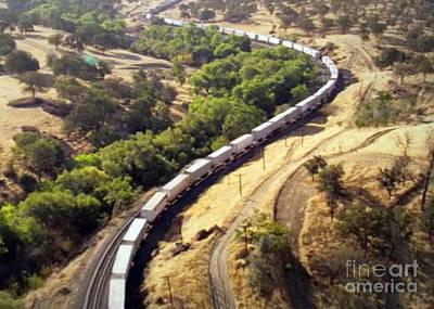 Photograph - Longest American Freight Trains by Navin Joshi