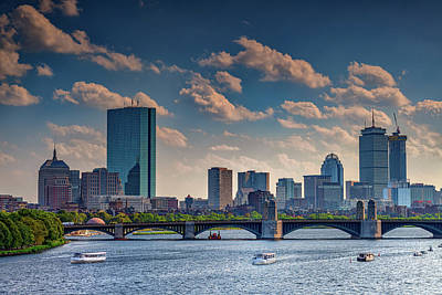 Photograph - Longfellow Bridge And The Boston Skyline by Rick Berk