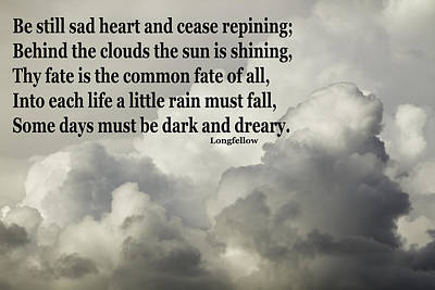 Photograph - Longfellow Quote Clouds Building Before Storm by Keith Webber Jr