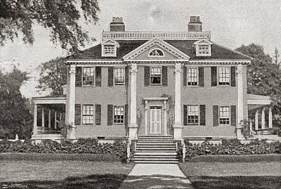 Longfellow S Home. Craigie House Art Print by Vintage Design Pics