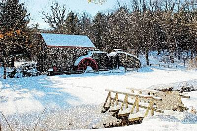 Longfellow's Grist Mill Art Print