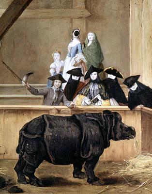 Longhi: Rhinoceros, 1751 Art Print by Granger