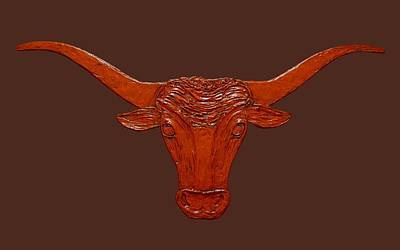 Painting - Longhorn 2 by Sandy Dusek