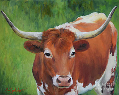 Painting - Longhorn I by Cheri Wollenberg