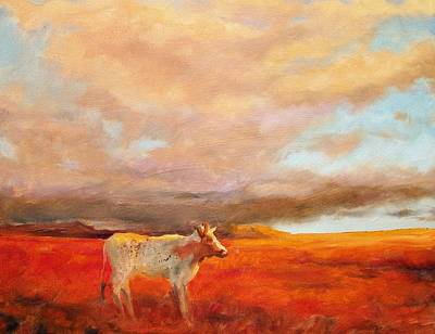 Longhorn Art Print by Margaret Aycock