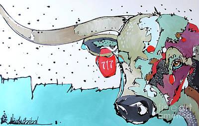 Longhorn No. 717 Art Print by Nicole Gaitan