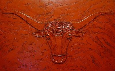 Painting - Longhorn by Sandy Dusek