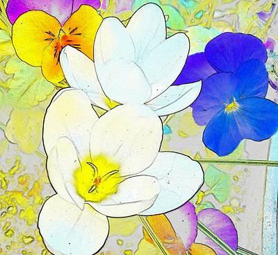 Flower Digital Art - Longing For Spring by Kumiko Izumi