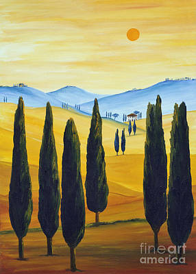Tuscan Dusk Painting - Longing For Tuscany by Christine Huwer