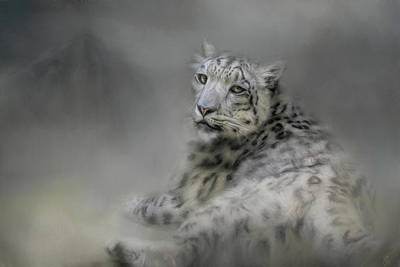 Painting - Longing Snow Leopard Art by Jai Johnson