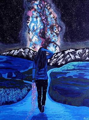 Constellations Painting - Longing by Sonal Poghat