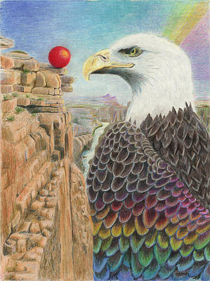 Grand Canyon Drawing - Longing To Soar by Bon Vernarelli