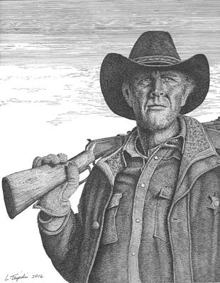 Old West Drawing - Longmire by Lawrence Tripoli