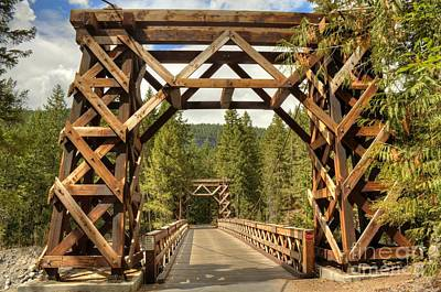 Photograph - Longmire Wooden Bridge by Chris Anderson