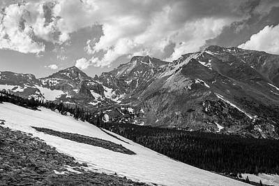 Photograph - Longs From Wild Basin Black And White by Aaron Spong