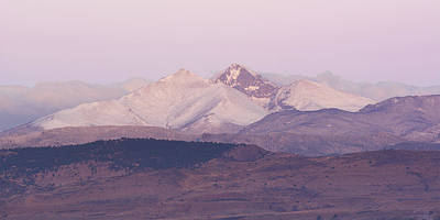 Photograph - Longs Peak After A Spring Snowstorm by Aaron Spong