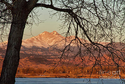 Longs Peak And Mt. Meeker The Twin Peaks Color Photo Image Art Print