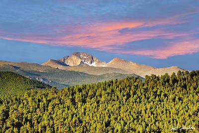 Photograph - Longs Peak At Sunrise by Jeff Goulden