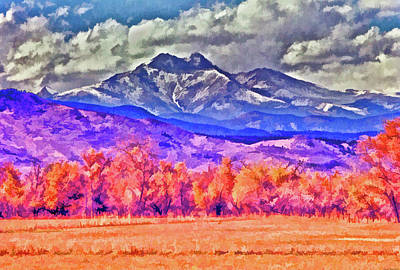 Painting - Longs Peak by Charles Muhle