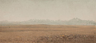Longs Peak Colorado Art Print by Sanford Robinson Gifford