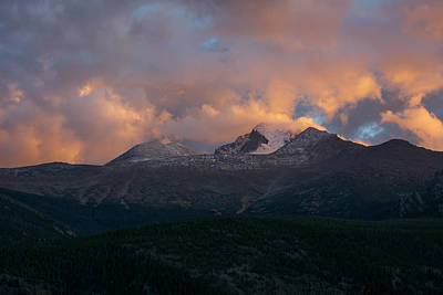 Photograph - Longs Peak Drama by Aaron Spong