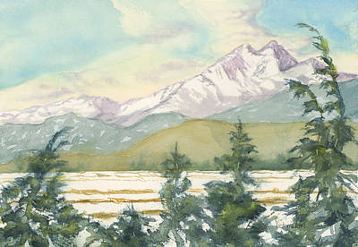 Painting - Long's Peak From Longmont by Victoria Lisi