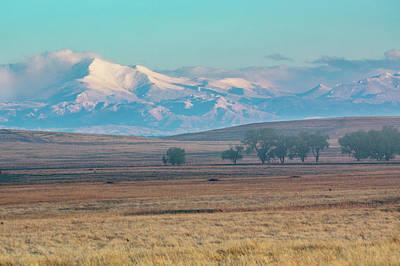 Photograph - Longs Peak In Colorado Seen From The Plains by John De Bord