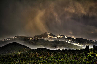 Photograph - Long's Peak In Haze by Roger Passman